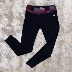 Vogo Athletica long length leggings purple waist